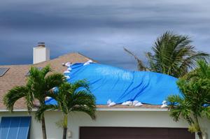 Roof damage after a FL storm