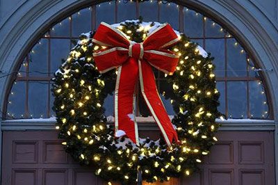 Lit Wreaths