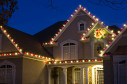 Roofline holiday lights