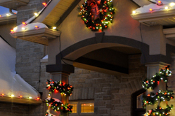Holiday wreath and garland