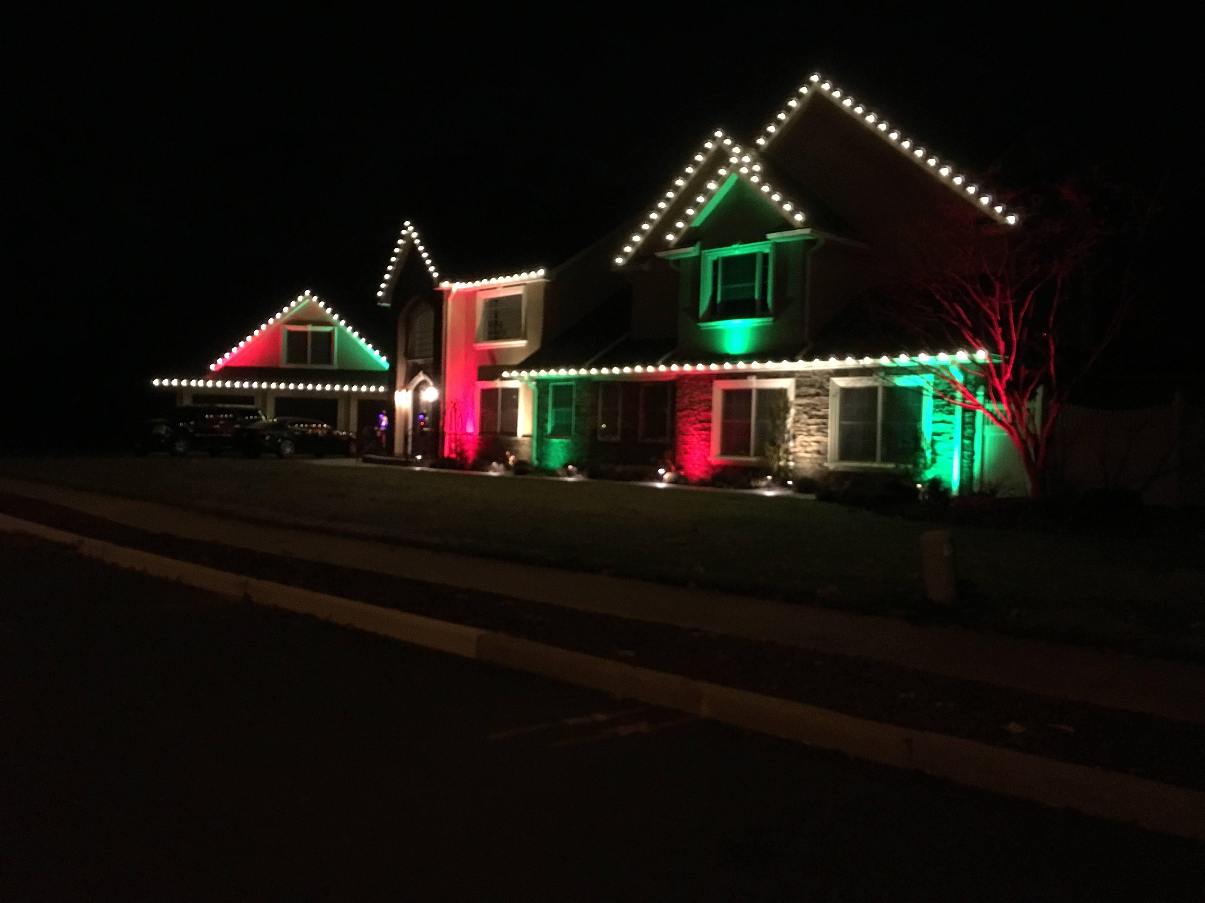 Holiday flood lights