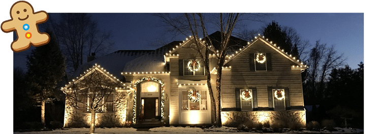 beautiful home with holiday decorations