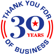 30 years in business!