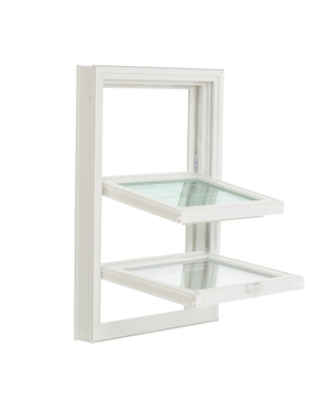 Double-hung tilt in window