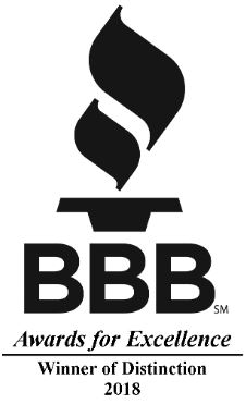 BBB Recognizes Ernie Smith & Sons Roofing with Excellence Distinction Award 2018