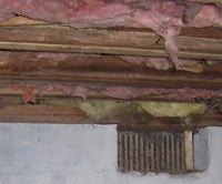 vented damp crawl space in Spring Valley