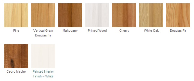 wood material options