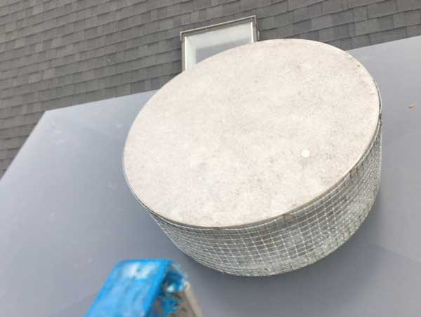 Custom chimney rain pan design