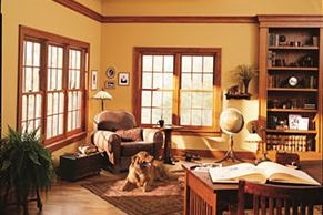 Double-hung windows in Northfield home