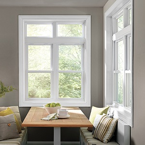 Low-E glass double-hung windows