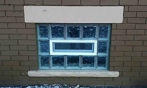 Thinline Series Glass Block Installation in Pennsylvania