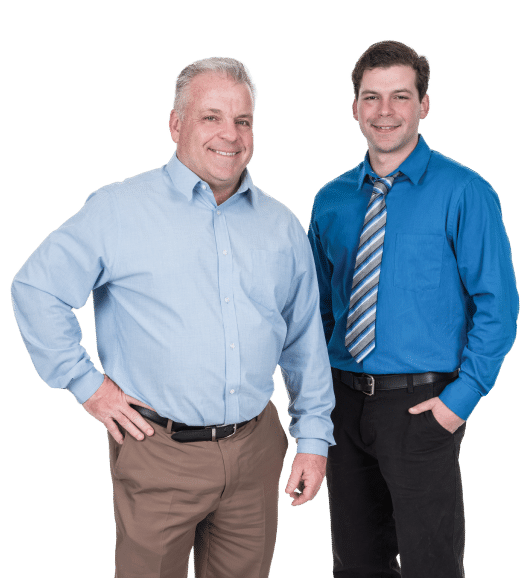 Brian and Brian Quinn, Owner of BQ Basement Systems