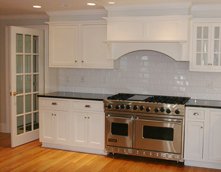 kitchen remodel with new stove