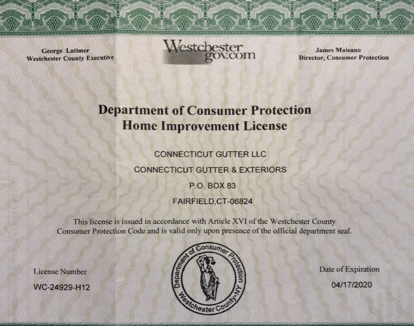Department of Consumer Protection - Home Improvement License