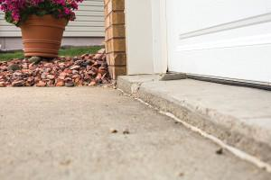 Concrete driveway cracking