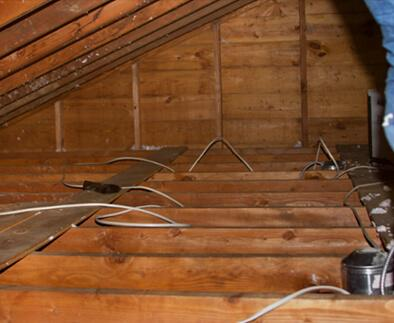 uninsulated attics