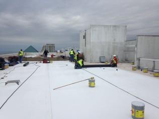 Residential and commercial flat roof repair in Greater Tidewater Area