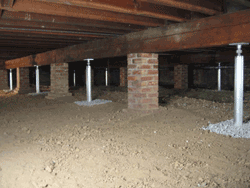 crawlspace supports
