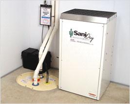 SaniDry™ Dehumidifier and Sump Pump