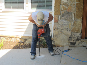 PolyLevel being installing in a home in Bristol, TN