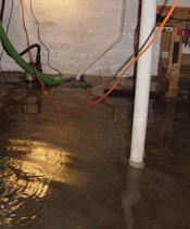 Sump Pump that Lost Power in a TN basement