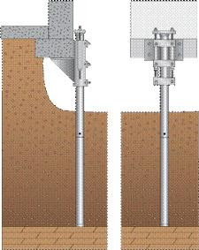 diagram of foundation push piers installed on a home