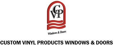custom vinyl products windows and doors logo