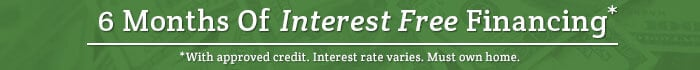 Interest Free Financing Available With Approved Credit