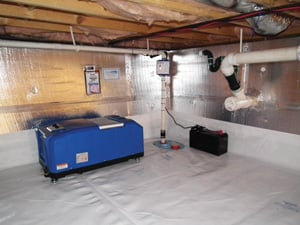 Sump pumps & dehumidifiers are expertly installed by Basement Systems contractors