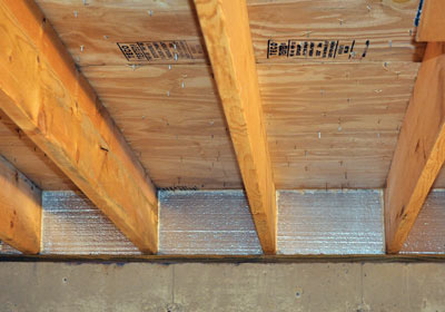 Sealed and insulated rim joist with SilverGlo.