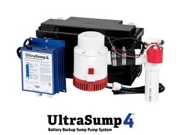UltraSump backup battery components