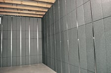 Insulated wall panels installed step 2