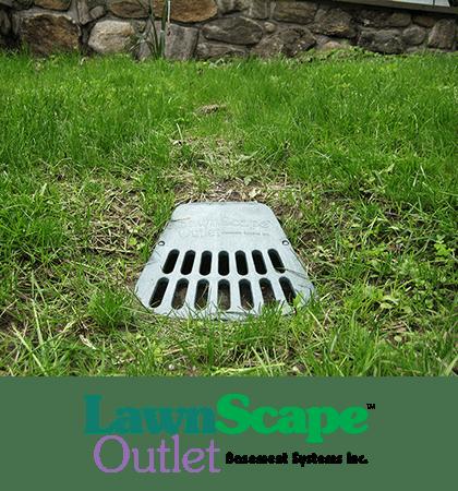 LawnScape™ downspout drainage lawn outlet