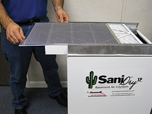 SaniDry™ air filtration system