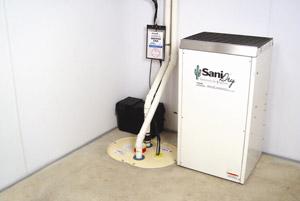 SaniDry™ dehumidifier