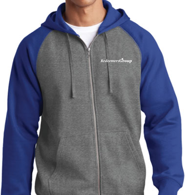 Hoodie Gray + Blue - Size