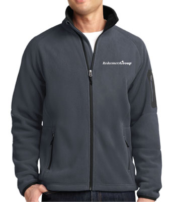Fleece Jacket, Full Zip - Gray