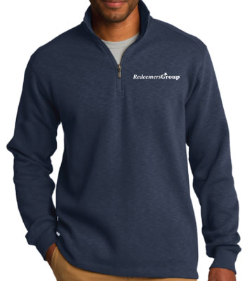 Soft Shell Jacket, Quarter Zip - Navy