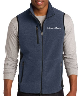 Fleece Vest - Navy