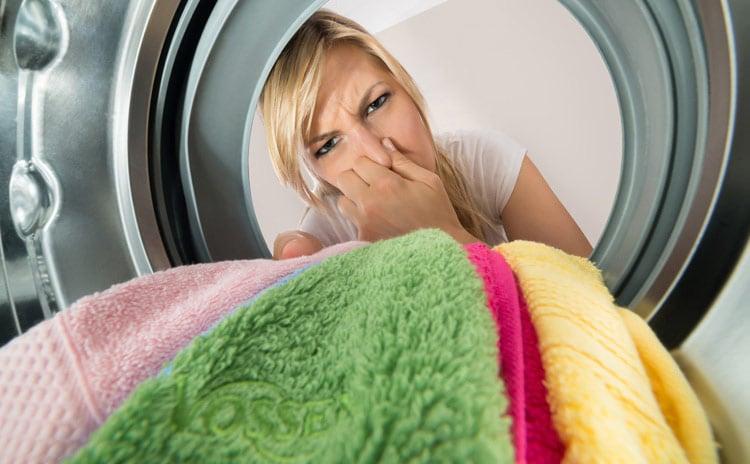 laundry smells foul