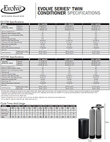 Twin Tank Conditioner Systems Specs