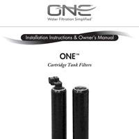ONE Cartridge Filter Tank Manual