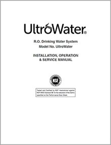 UltroWater Drinking Water System Manual