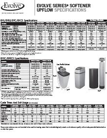 Upflow Softener System Specs