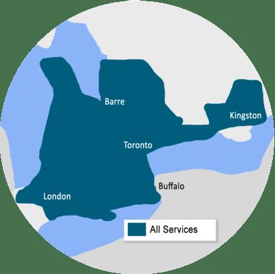 Canadian Concrete Leveling service area