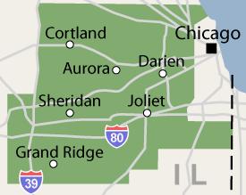 Illinois service area including greater Bartlett, Aurora, Naperville, and Joliet