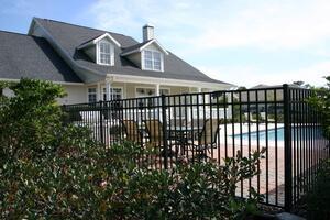 [fence around pool]