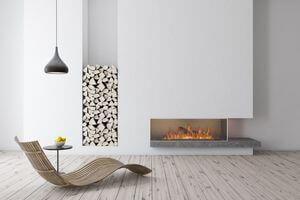 Modern Designed Fireplace