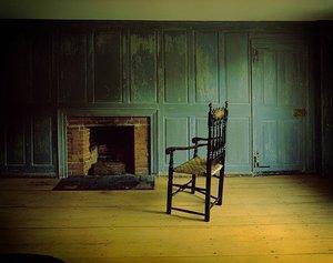 [Masonry fireplace]