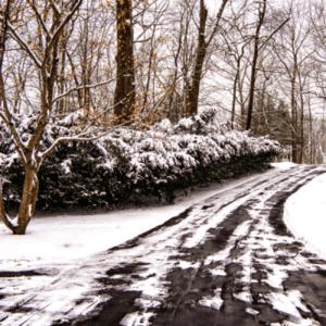 [winter driveway]
